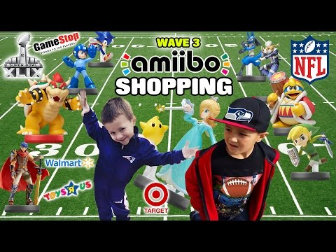 Dad & Sons Go Amiibo Shopping On Super Bowl Sunday For Wave 3! (Part 1) Rosalina, Sheik, Toon Link +