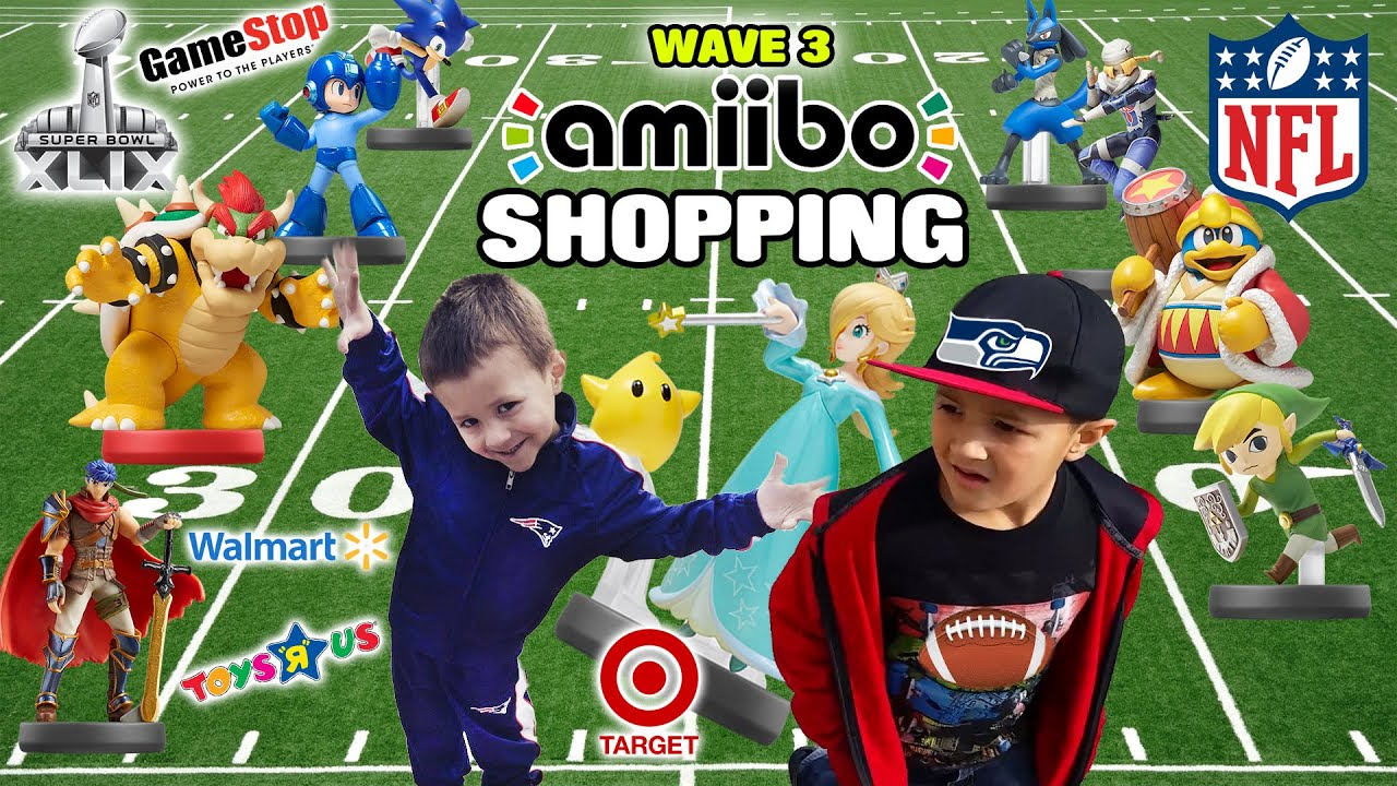 Dad & Sons go Amiibo shopping on Super Bowl Sunday for Wave 3! (Part 1) Rosalina, Sheik, Toon Li