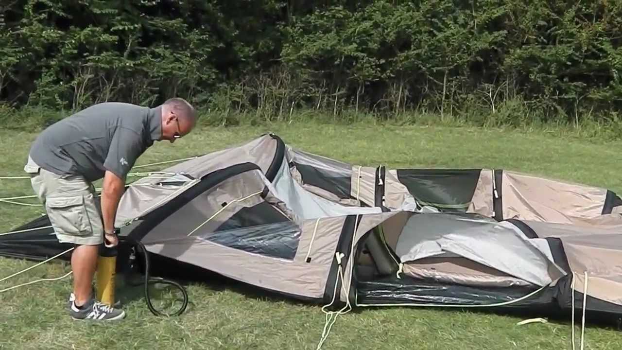 & Kampa Air-Frame Inflatable Tents - YouTube