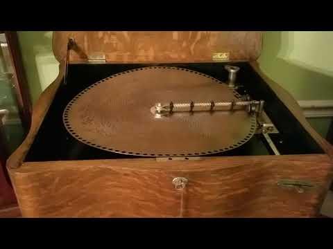 "Regina 15.5"" Music Box Plays ""American Patrol/Columbia."""