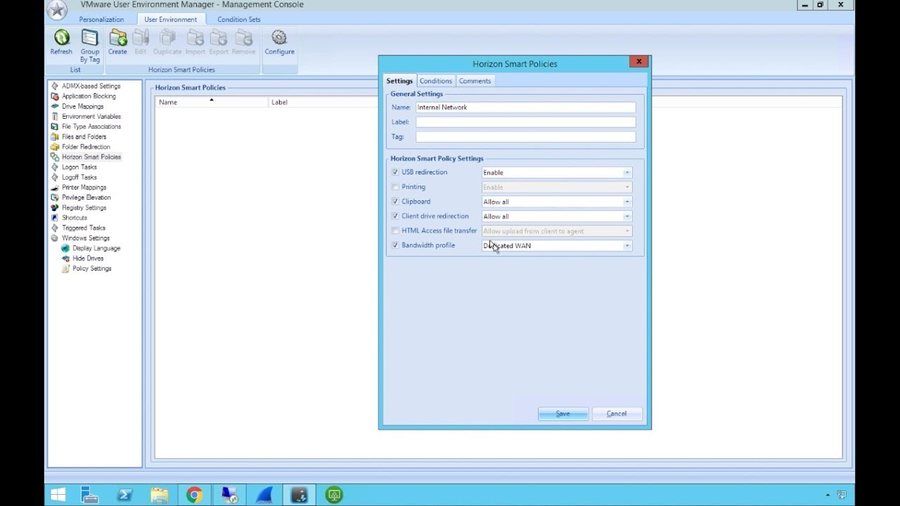 VMware Horizon 7 v7 2: Smart Policies for Horizon Applications - Feature  Walk-through