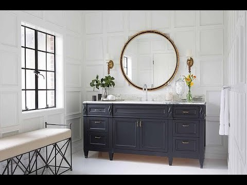 Navy Blue Bathroom Vanity - YouTube