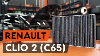 Kā nomainīt salona gaisa filtrs / salona filtrs RENAULT CLIO 2 (C65) [AUTODOC VIDEOPAMĀCĪBA]