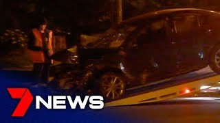 Dramatic end to high-speed joyride through Melbourne's northern suburbs
