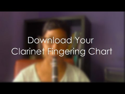 Bb Clarinet Fingering ChartLearn Your Notes  Youtube