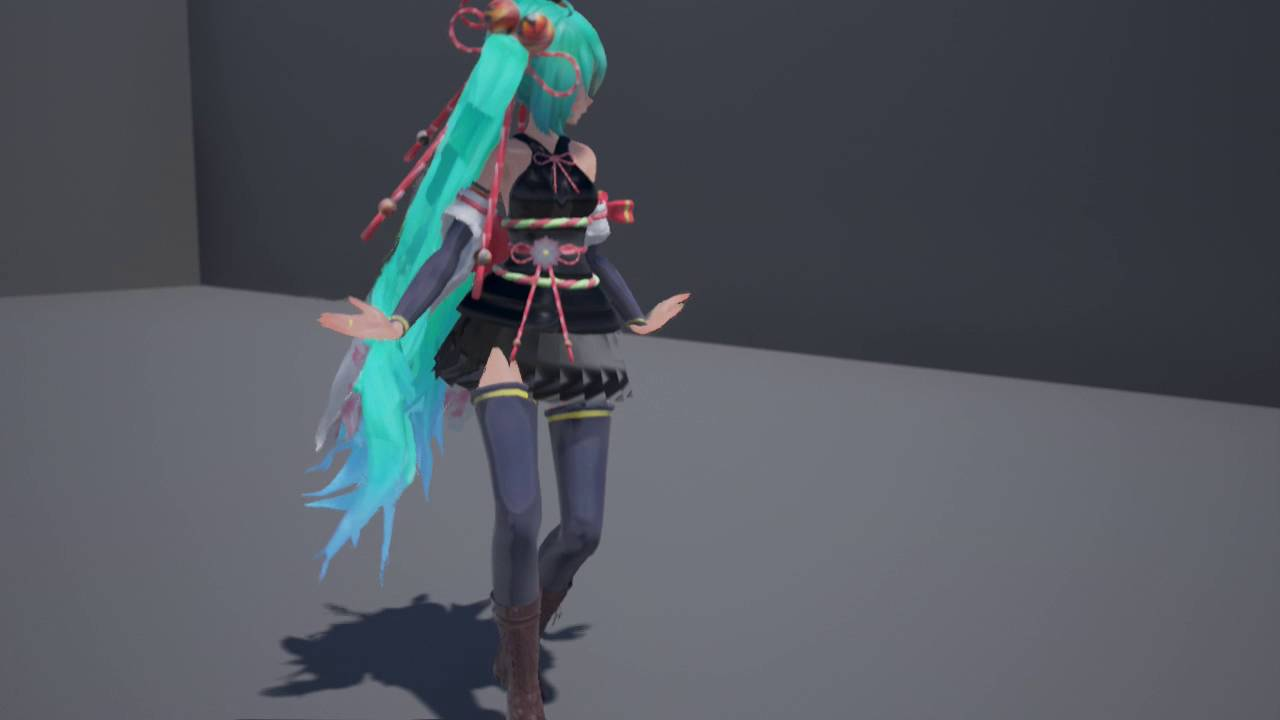 【MMD × Unreal Engine】APEX Cloth and Hair Test