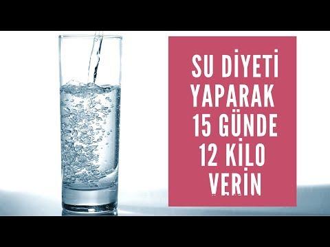 Su Diyeti Yaparak 15 Günde 12 Kilo Vermek