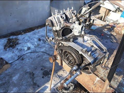 Четырехтактный 4т двигатель иж юпитер 5 из стандартного! Двигатель успешно запущен!