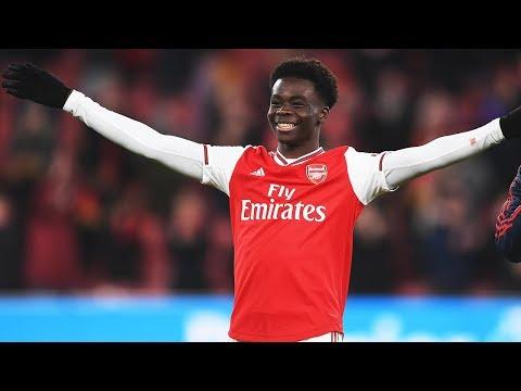 Best of Bukayo Saka | Arsenal 4-0 Newcastle | Skills compilation