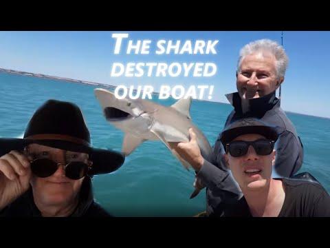 We caught a shark and broke the boat near Kangaroo Island