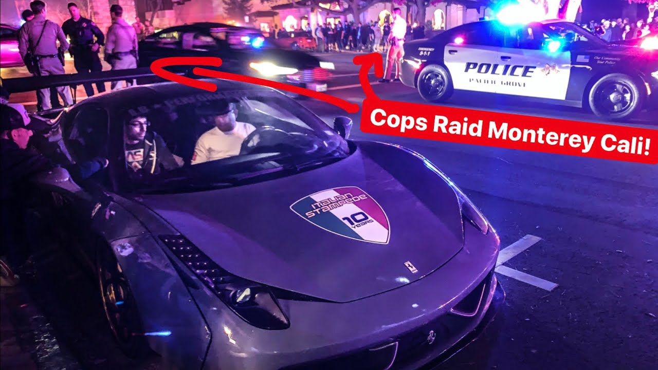 POLICE CHASE RECKLESS DRIVERS DURING MONTEREY CAR WEEK!