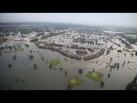Aerial Footage Shows Flooding In Texas
