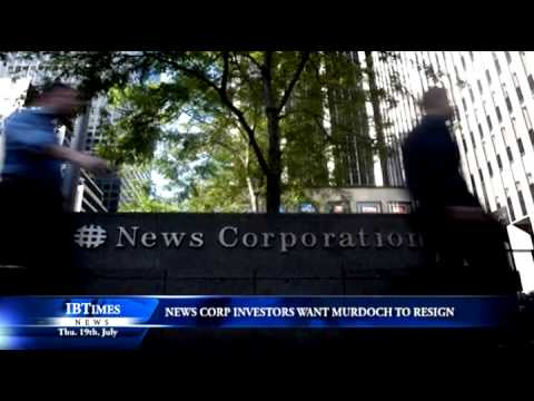 News Corp investors want Murdoch to resign