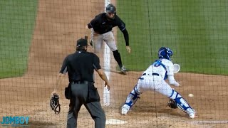 Jon Berti steals 2nd, 3rd and home against the Mets, a breakdown