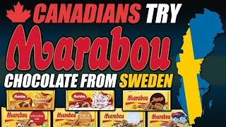 Canadians Try Marabou Chocolate From Sweden!