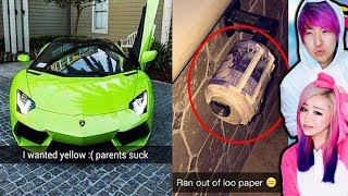 The RICHEST Kids Snapchats! *Spoiled Teens*
