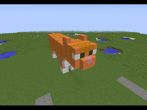 tuto minecraft statue du chat orange youtube. Black Bedroom Furniture Sets. Home Design Ideas