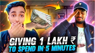Giving Assassin Nayan 1,00,000 To Spend In 5 Minute Challenge || Free Fire