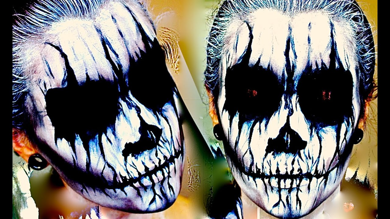 demon corpse paint halloween makeup tutorial youtube - Halloween Facepaint