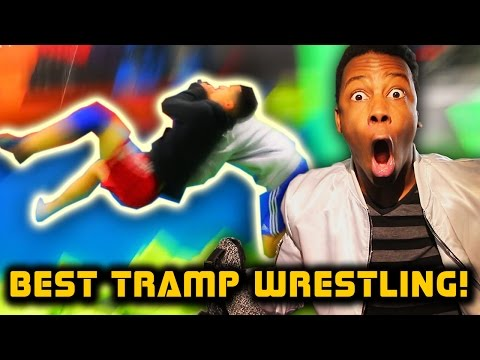 WWE MOVES AT THE TRAMPOLINE PARK 1 & 2 Reaction!