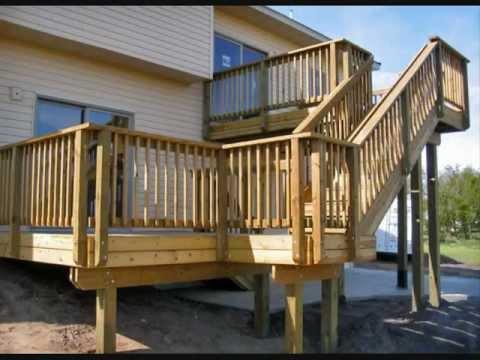 terrazas con madera exterior estilo americano