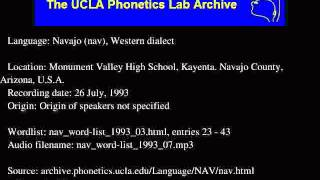 Navajo audio: nav_word-list_1993_07