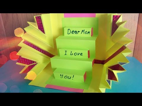 DIY Handmade Amazing Greeting POP UP Card for Mother, Grandma, Best Friend. Birthday, Mother's Day