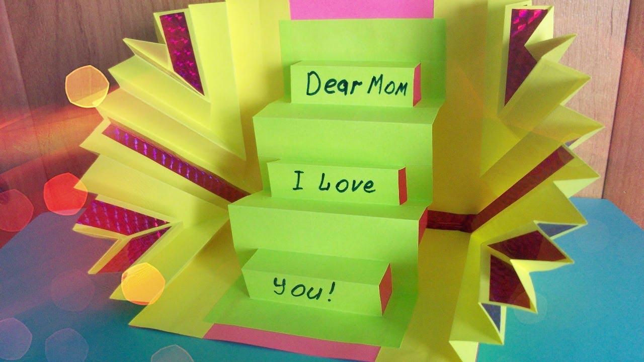 Diy Handmade Amazing Greeting Pop Up Card For Mother Grandma Best