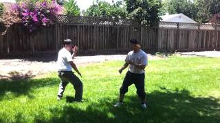 BAAU Fight Training IanVsWang Open Hand