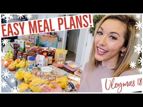 GROCERY HAUL! 🛒🍌🥦🍝 MEAL PLANNING FOR A FAMILY OF FOUR W/ LIST + RECIPES!