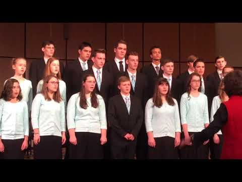 """Alleluia, Alleluia"" sung by Utica Christian School Senior High Choir {WACS Academic Meet}"