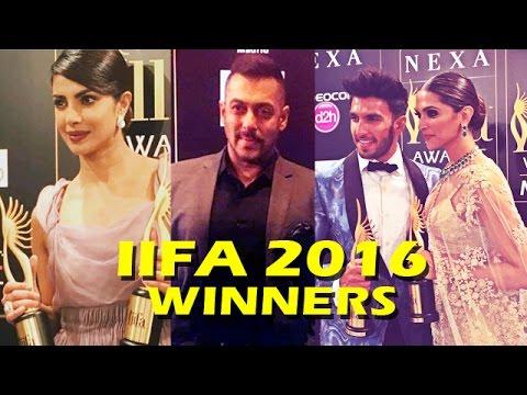 IIFA Awards 2016 Complete WINNERS List | Deepika Padukone | Salman Khan | Priyanka Chopra | Ranveer