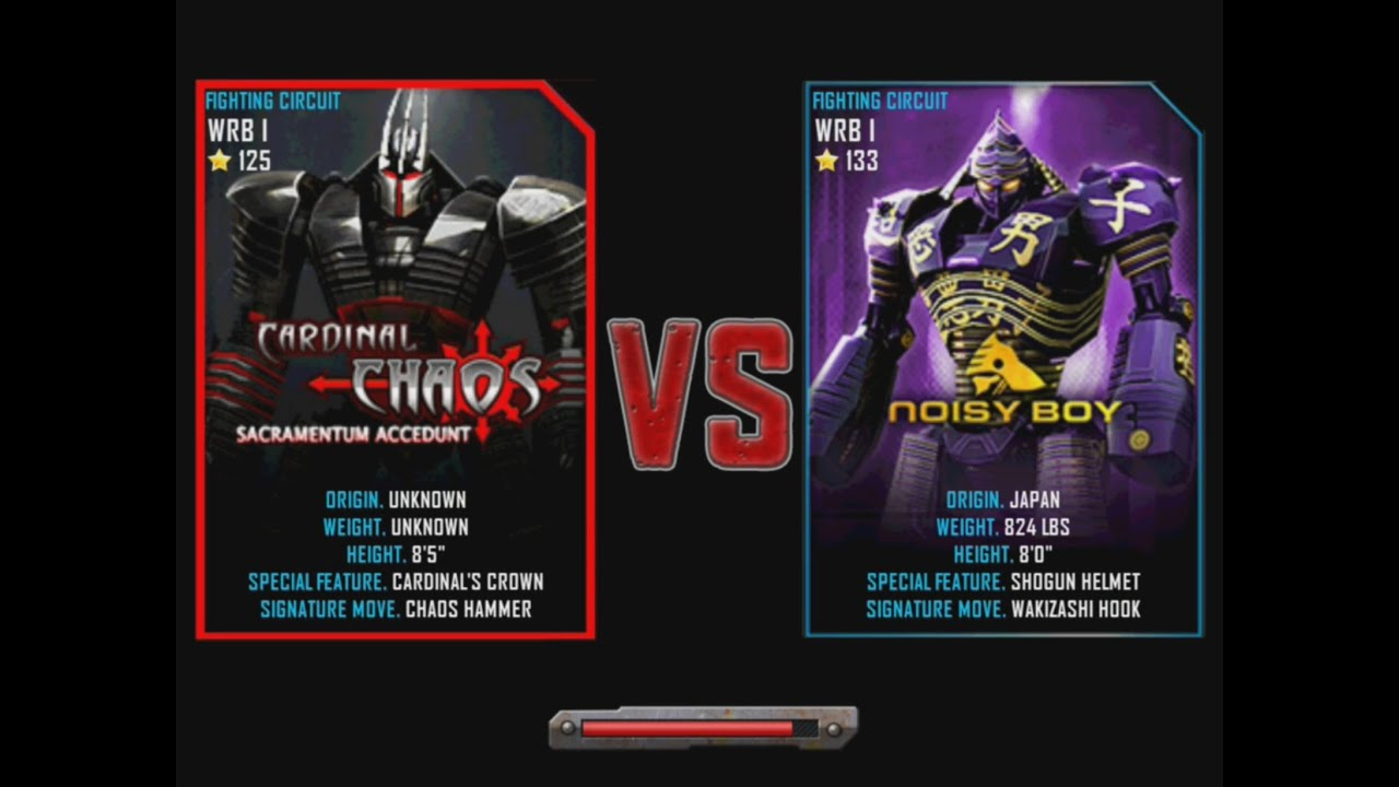 Real Steel Wrb Cardinal Chaos Vs Noisy Boy Championship