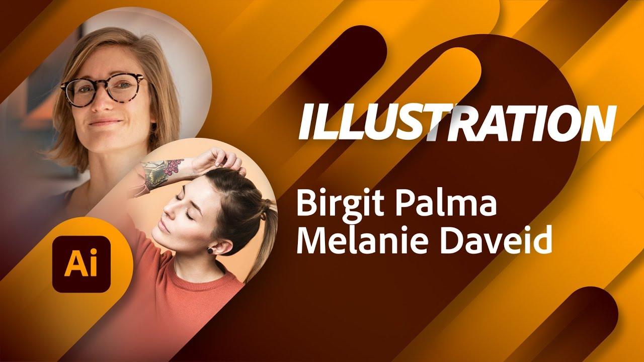 Illustration Masterclass mit Birgit Palma und Melanie Daveid |Adobe Live