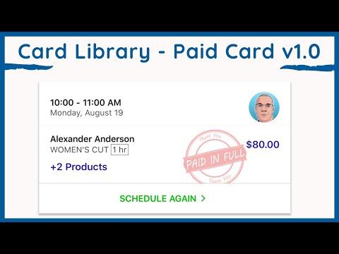 Paid Card 01   Card Library   Flutter SDK UI