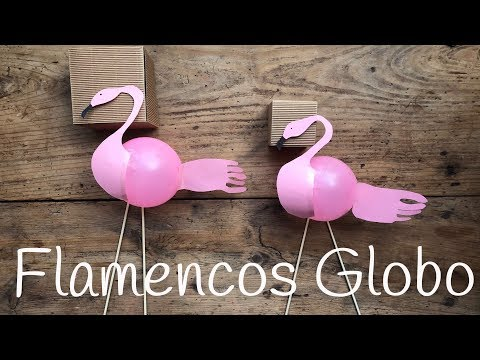 Flamencos con globos para fiestas infantiles