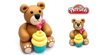 Download How to make Teddy Bear out of Play Doh. Crafts for Kids. DIY for Kids