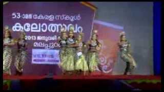 KERALA SCHOOL KALOLSAVAM ...FIRST PRIZE IN GROUP DANCE HIGH SCHOOL SECTION...SILVER HILLS CALICUT...