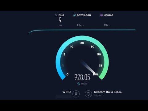 Gigabit Speedtest Wind Fibra FTTH Napoli (IT) 2017