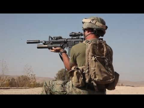 Marine sniper engages Taliban with Barrett M107  50 cal rifle