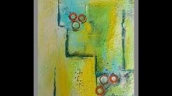 Acrylmalerei für Anfaenger,  Tutorial, Collage , for beginners