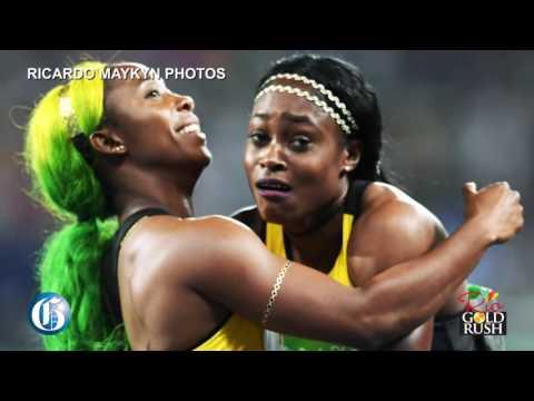 #RioGoldRush: Jamaicans celebrate Women's 100 metres in Half Way Tree