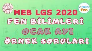 OCAK AYI FEN BİLİMLERİ Örnek Soru Çözümleri  MEB 2020 LGS