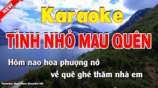 Karaoke Tình nhỏ mau quên