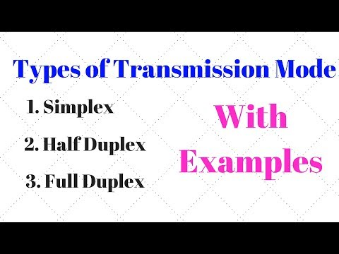 Types Of Transmission Mode, Simplex, Half Duplex And Full Duplex With Examples.