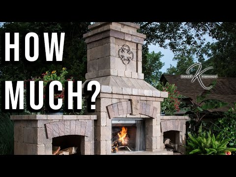 Landscape Design W Outdoor Fireplace/How Much Does It Cost?