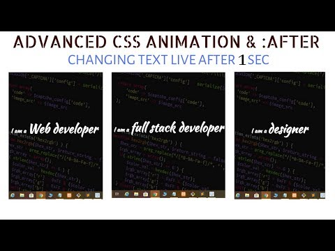 Changing Text Content With CSS Animation & Pseudo Elements