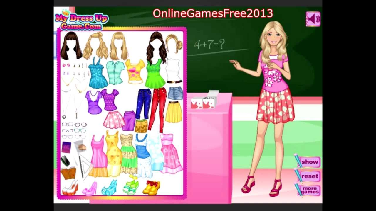 Free Online Barbie Games Barbie Dress Up Games Soft