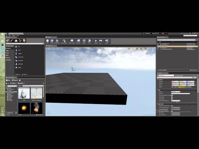 Создание уровня в Unreal Engine 4 - Начало (Урок неактуален)
