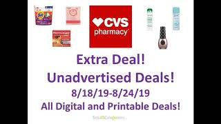 CVS Extra Deal and Unadvertised Deals 8/18/19-8/24/19! All Digital and Printable Deals!